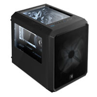 """new"" DEFY B40 BLACK M-ATX/ITX Triple window Computer PC Mini Case BRAVOTEC"