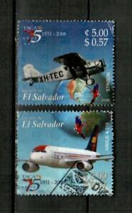 EL SALVADOR Scott's 1641a-b ( 2v ) TACA Airlines F/VF Used ( 2006 )