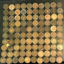 100 Canada Large Cents Victoria 1859 1876H 1881H 1882H 1884 1886 1888 etc.