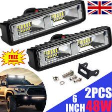 2X 48W LED Work Light Bar Flood Spot Lights Driving Lamp Offroad Car SUV 12V/24V