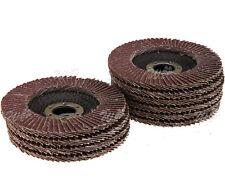 10x Angle Grinder 115mm Flap Sanding Discs 22.2mm Bore 40 Grit Grinding Wheel