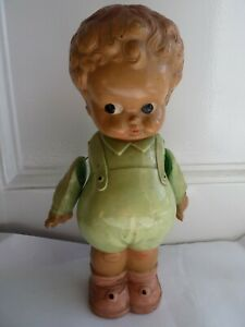Large 1950's Celluloid Kewpie Style Character Doll English Made