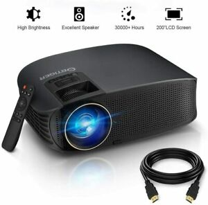 HD Projector, GBTIGER 4000 lumens LED Video Projector, Full HD 1080P Support, 20