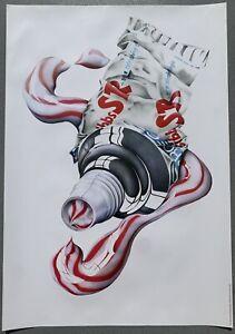 SR (toothpaste) - Michael English 1970 Print