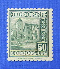 1948 ANDORRA SPANISH 50c SCOTT# 43 MICHEL # 46 UNUSED                    CS25149