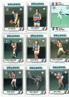 1975-1976-1978 SCANLENS VFL footy cards FOOTSCRAY BULLDOGS - you pick - VG-EXC