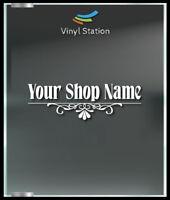 Your Custom Shop Name Business Store Sign Vinyl Decal Sticker Window Door