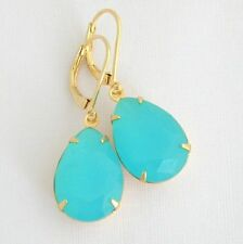 Leverback Glass Mixed Metals Handcrafted Earrings