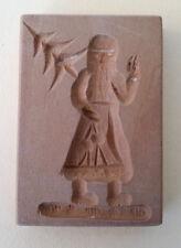altes Holz Model Springerle Spekulatius Backform Nikolaus  4,8 x 7,8 x 1,3 cm