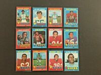 (Lot of 46) 1971 Topps Football Cards (HOF, Stars, Rookie Cards & Commons) EX-NM