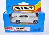 Blue Box Matchbox MB31 # Rolls - Royce Silver Cloud II Diecast Toy Car Sealed