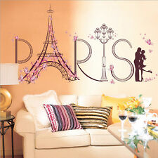 Home Decor Wall stickers Flower Eiffel Tower Paris Decal Quote Wall Art Mural
