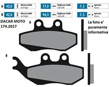174.2017 PLAQUETTE DE FREIN SINTERED POLINI PIAGGIO SUPER HEXAGON 125 GTX