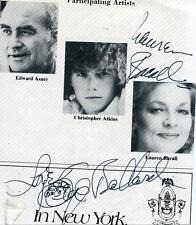 LAUREN BACALL KEY LARGO ACTRESS & KAYE BALLARD SIGNED PHOTO PAGE AUTOGRAPH