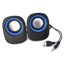 US USB Stereo Speaker For Laptop Desktop Computer MP3 Cell Music Player Black