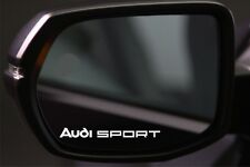 4x Wing Mirror Stickers Fits Audi Sport Graphic Decal Vinyl BD4