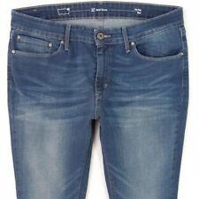Femme LEVIS DEMI CURVE BOOTCUT STRETCH BLUE JEANS W32 L34 UK Taille 12