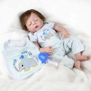 22'' 55cm Full Silicone Vinyl Reborn Dolls Baby Boy Newborn Sleeping Gift Toys
