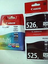 CANON CLI-526 gelb-cyan-magenta-schwarz PGI-525 schwarz Pixma Original MG6150 (5