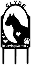 Personalized BOXER Puppy Dog Pet Memorial Grave Marker Sign Cemetery Metal Art