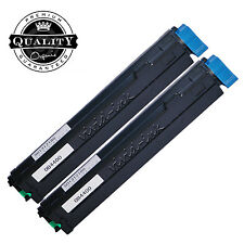 2 High Yield Toner Cartridge Black +Chip For OKI Okidata B4400 B4600 B4500 B4550