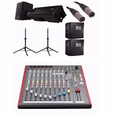 "EV ZLX15P 15"" Active Speakers + Allen & Heath ZED-12FX + Ultimate TS-90B,BUNDLE"