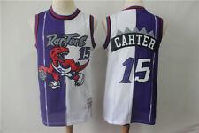 Men's Toronto Raptors #15 Vince Carter Purple White Classic Swingman Jersey