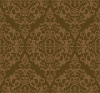 Wallpaper Designer Dark Metallic Gold Damask on Brown Faux Crackle