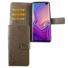 Samsung Galaxy S10 Plus Handyhülle Schutztasche Cover Flip Case Kartenfach Grau