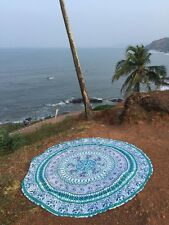 MANDALA ROUNDIE HIPPIE GYPSY PARROT YOGA MAT THROW BEACH BOHEMIAN TABLE CLOTH