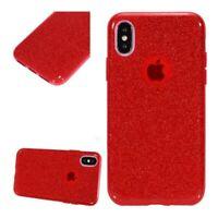Apple Iphone XR, Coque Silicone Semi Rigide Rouge Brillant Anti Choc