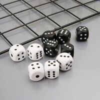 5pcs 20mm Corner Round Wood Dice For Bar Nightclub Party RPG Board Game Kid Toys