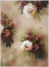Printed Translucent / Vellum Scrapbook  Paper A/4 -Pink Rose