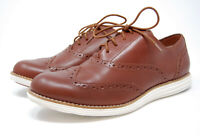 COLE HAAN Grand OS brown leather wingtip oxford shoes 10.5 B
