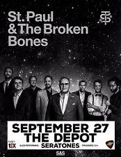 ST. PAUL & BROKEN BONES/SERATONES 2016 SALT LAKE CONCERT TOUR POSTER- Soul Music