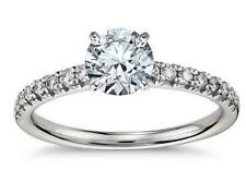 Real 14K Solid White Gold 1.99c Round Brilliant cut Anniversary Engagement Ring