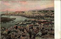 Genua Genova Italien Italia ~1910 Panorama Castelletto Porto Hafen Schiffe Stadt