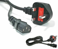 2M UK PC Mains Power Cable Kettle Lead Power Lead TFT LCD TV COMPUTER [2 METRES]