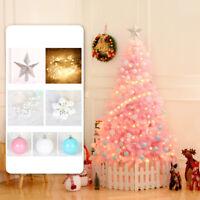 4ft Pink Christmas Tree LED Lights Fiber Optic Flash Mode Xmas Home Decoration