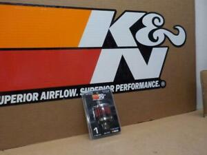 K&N #62-1370 CHROME Valve Cover/Crank Case BREATHER VENT FILTER~clamp on style