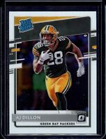 AJ DILLON 🏈 2020 Donruss Optic RATED ROOKIE RC #174 - Packers