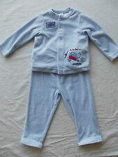 First Impressions Boy Blue Three-Piece Velour Outfit size 24 Months NWT B5238