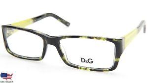 NEW D&G Dolce & Gabbana DG 1181 977 GREEN HAVANA EYEGLASSES 53-15-135 B30mm