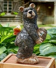 Honey Bee Bear Statue Garden Yard Art Lawn Sculpture Outdoor Decor