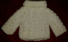 """New listing Collectible Htf White Cable Knit Sweater for Boyds Kendall Bear (About 12"""") Euc"""