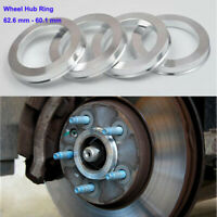 62.6mm - 60.1mm SET OF 4 SPIGOT RINGS For Alloy Wheel Hub Centric wheel spacer