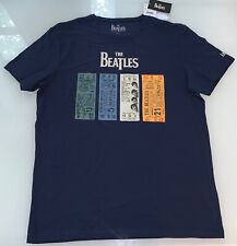 NEW OFFICIAL LICENSED - THE BEATLES - CONCERT TICKETS TOUR  T SHIRT SIZE L LARGE