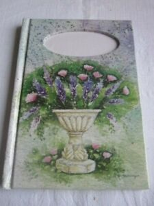 Floral Note Book with Cross Stitch Insert - No 2.