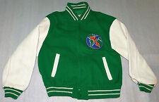 Varsity Letterman Jacket Winlit Energia Leather Sleeves Wool Medium Vintage