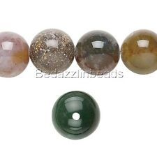 Lot of 10 Natural Big 10mm Round Fancy Jasper Genuine Gemstone Beads with Hole